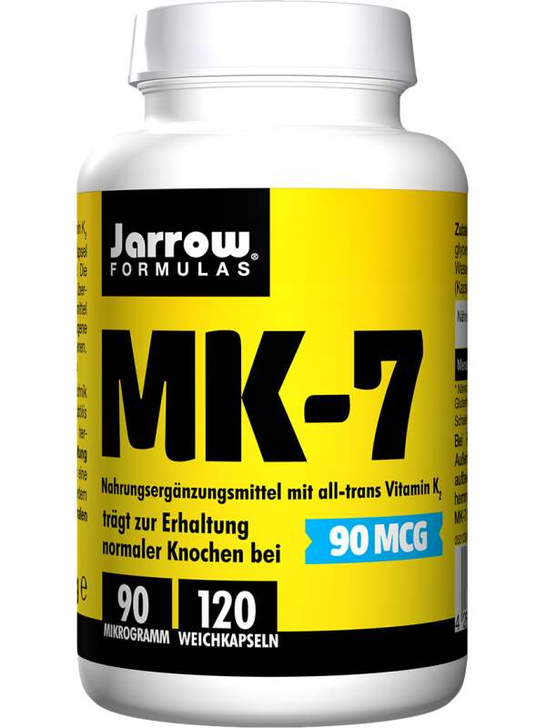 Bottle MK-7 vitamin K2 with 90 µg and 120 capsules